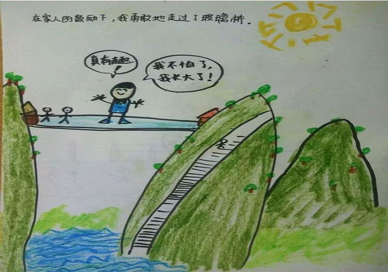 六一儿童节,看小朋友手绘石牛寨一日游