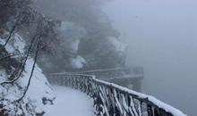 石牛寨2020年冬下雪啦,南昌周边最美绝壁栈道雪景地等你来打卡!
