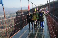 从岳阳坐车去石牛寨,看玻璃桥风景!