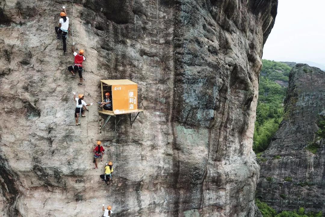 岳阳旅游景区石牛寨飞拉达攀岩攻略!挑战极限勇于攀登